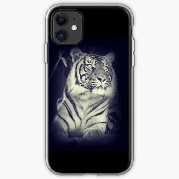 Black & White Sumatran Tiger iPhone Soft Case