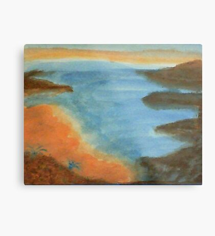 Heading Out From the Coves, watercolor Metal Print