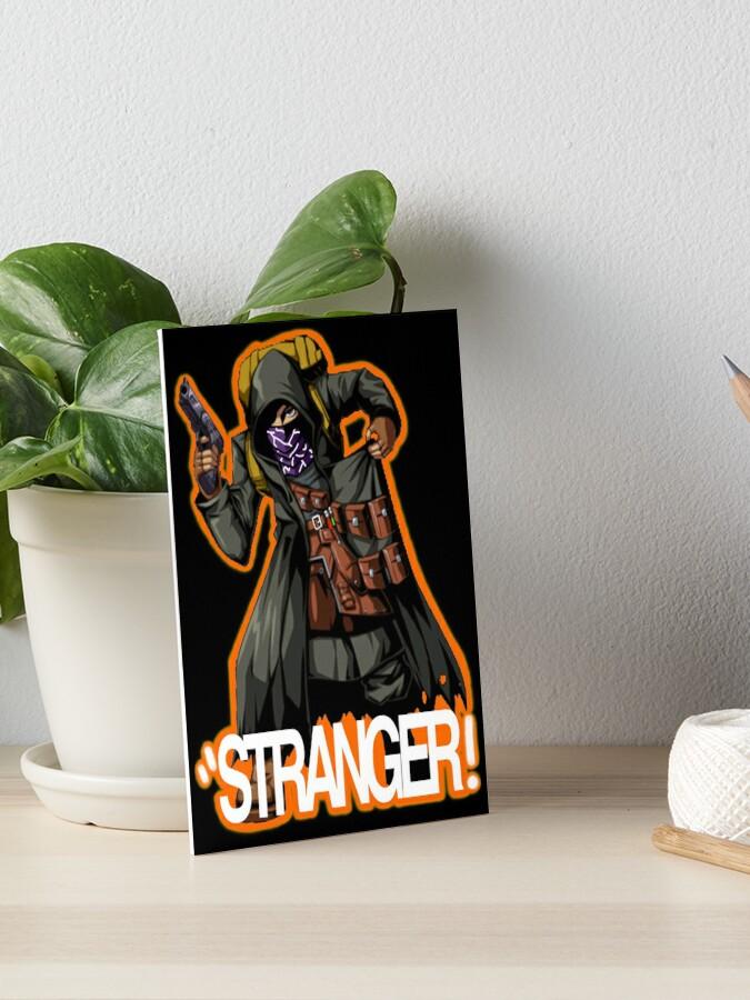 Resident Evil 4 Merchant Stranger Orange Outline Art Board Print By Lilflipjimmy Redbubble