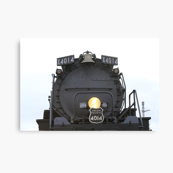 Big Boy 4014 closeup with a light on the front. Canvas Print