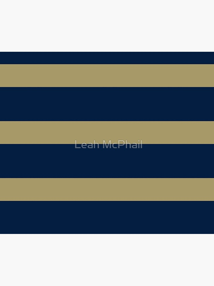 Blue and Gold Horizontal Stripes  by LeahMcPhail