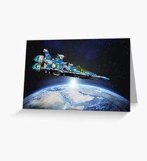 Benny's spaceship! Greeting Card