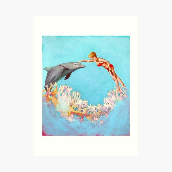Dolphin Shores Art Print