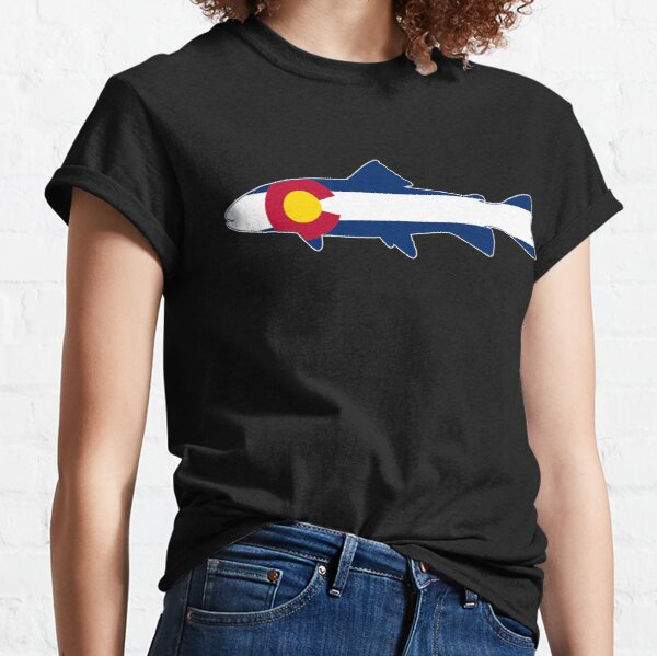 Colorado Flag Trout Fish Classic T-Shirt
