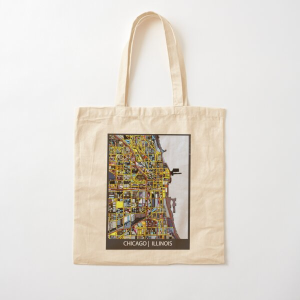 Chicago, IL Cotton Tote Bag