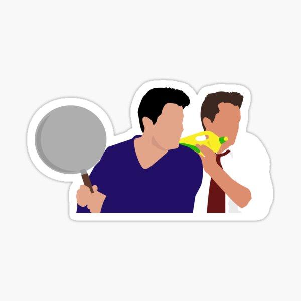Chandler and Joey Sticker