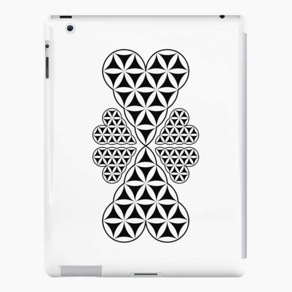 Heart of Life x 6 - Flower of Heart ,Transparent. iPad Snap Case