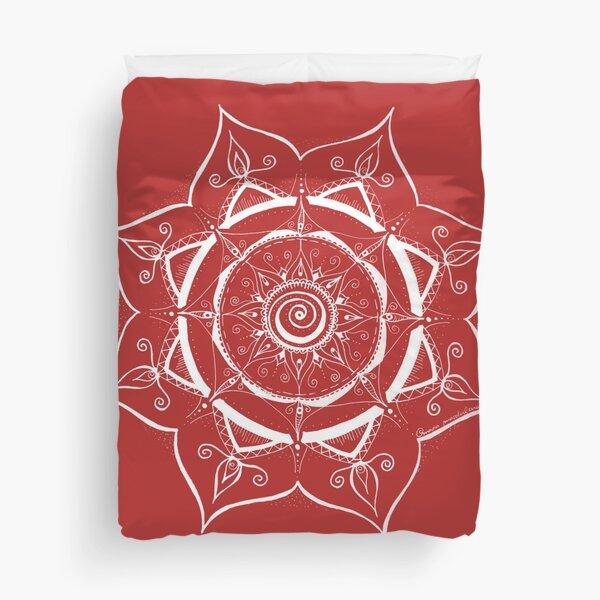 Mandala hand painted and magical Duvet Cover