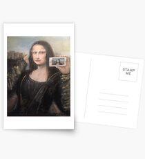 Mona Lisa Selfie Postcards