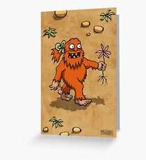 Handsome Yowie has a Flower Greeting Card