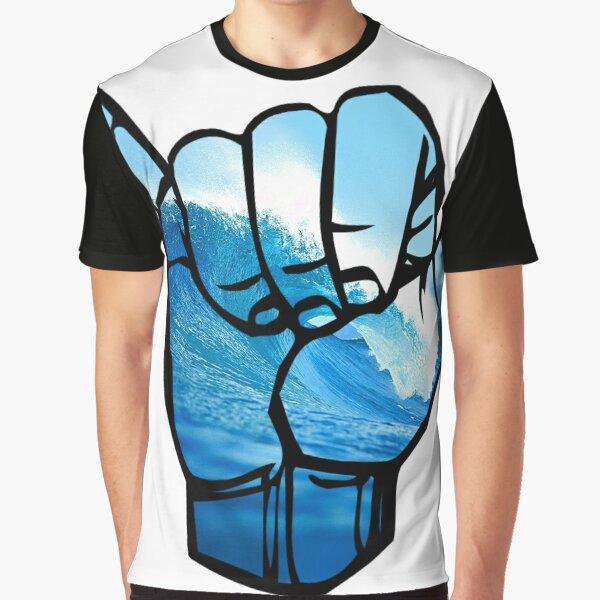 Shaka Sign Wave Rip Curl Graphic T-Shirt