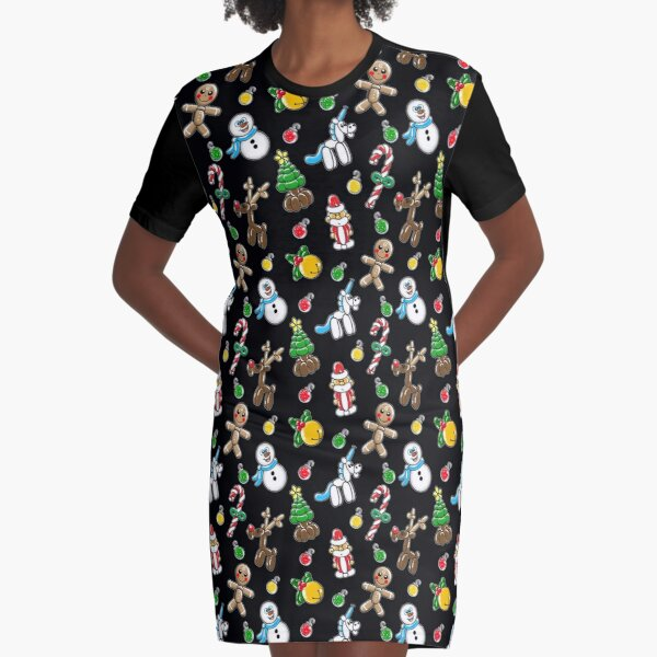 christmas balloons Graphic T-Shirt Dress