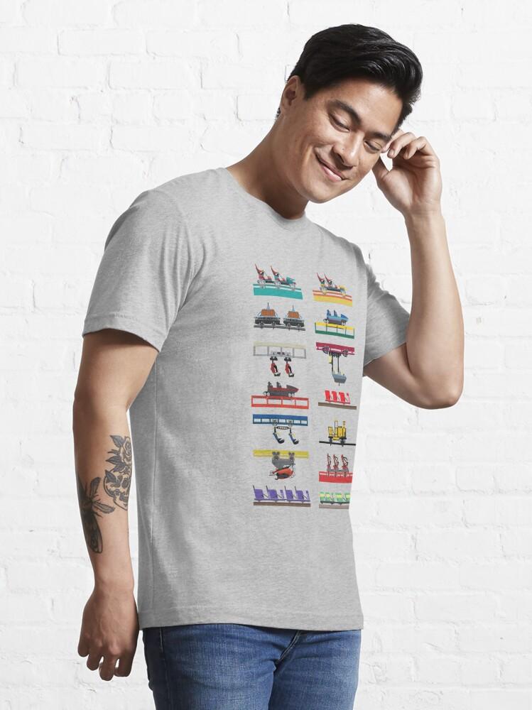 Alternate view of Canada's Wonderland Coaster Cars Design Essential T-Shirt