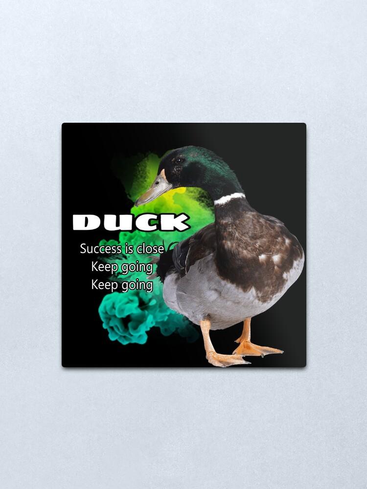 Alternate view of Duck symbolism Metal Print
