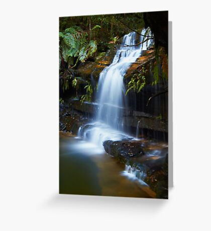 The Ledge - Terrace Falls  Greeting Card
