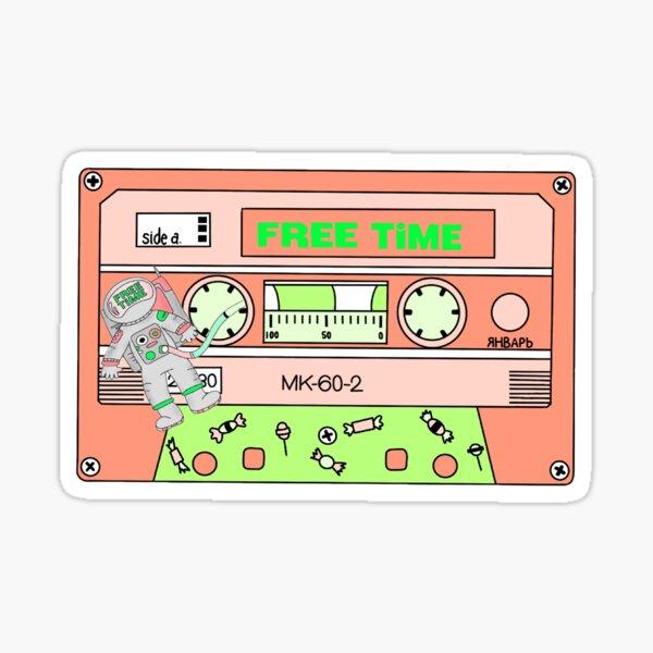 free time casette Sticker