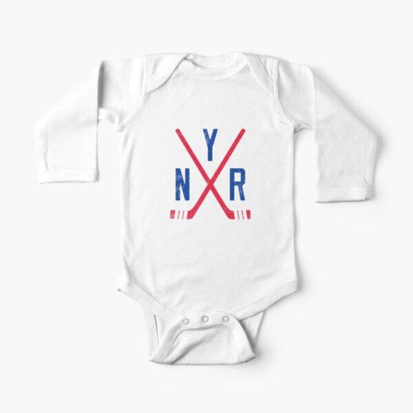 Original Six - New York Rangers - White Long Sleeve Baby One-Piece