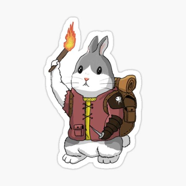 Adventure Bun - DnD Bunny Sticker