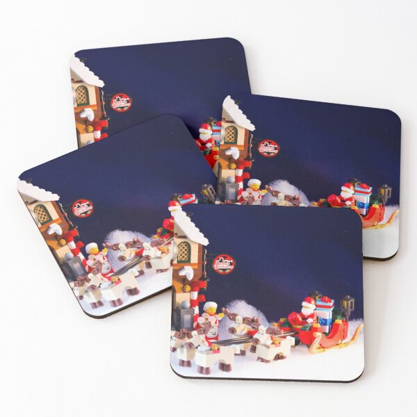 Loading the Sleigh Coasters (Set of 4)