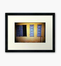 yellow/blue, phnom penh, cambodia Framed Print