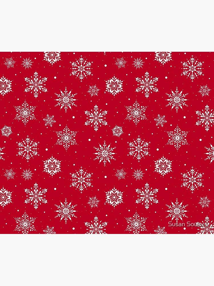 Christmas Folk Snowflakes V2 Red by SSSowers