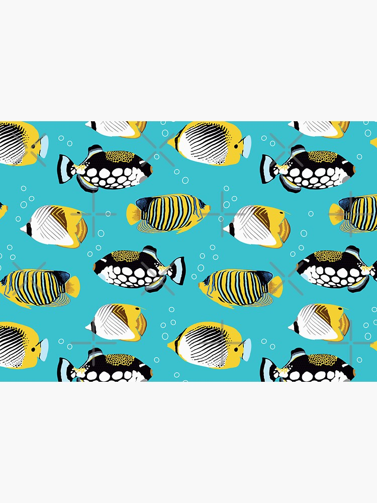 Tropical Fish in water (with stickers) by nadyanadya