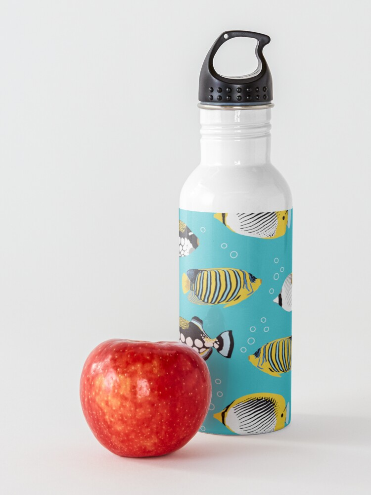Alternate view of Tropical Fish in water (with stickers) Water Bottle