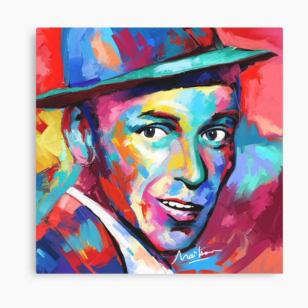 My Way Quote Rat Pack Music Art Poster Frank Sinatra Canvas Picture Print