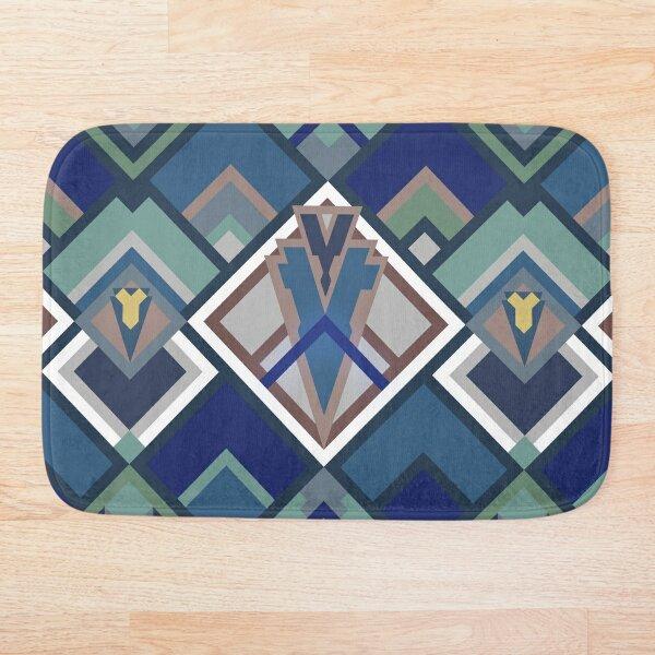 Art Deco fan: peacock Bath Mat