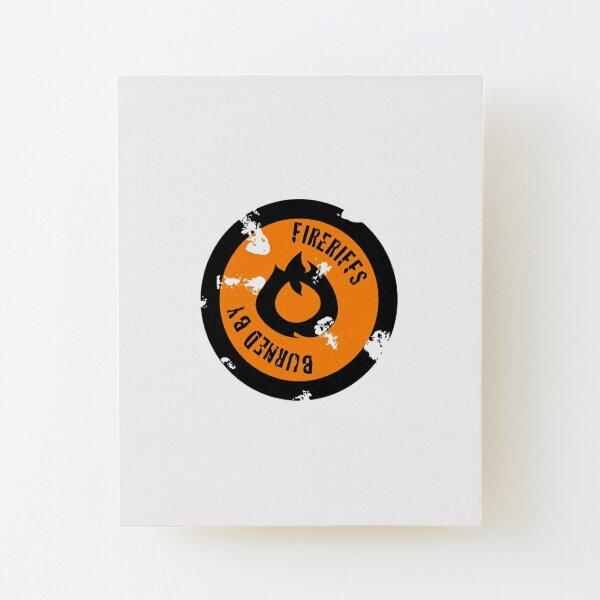 FireRiffs Logo Classic Wood Mounted Print