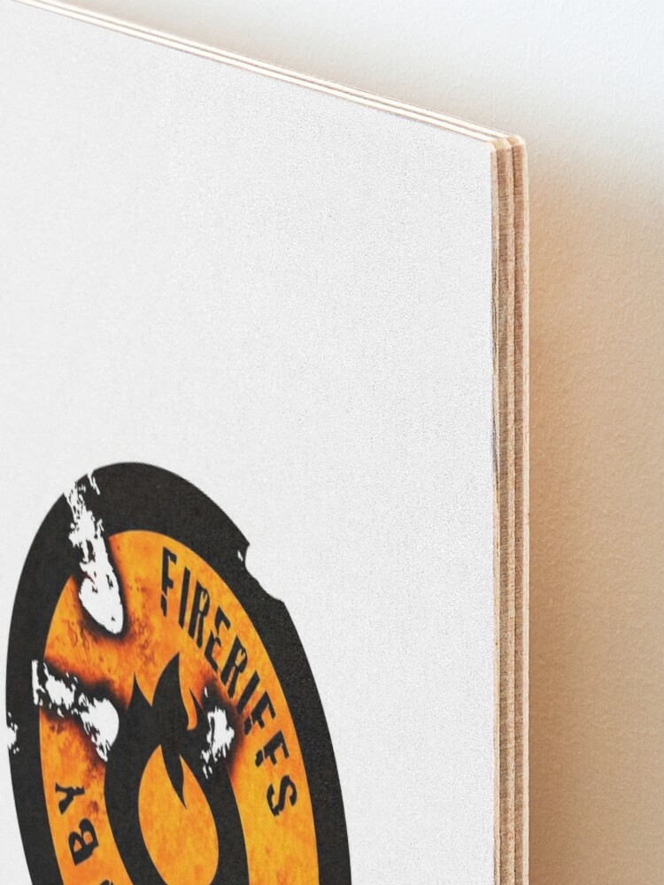 Alternate view of FireRiffs Logo Extra Crispy Mounted Print