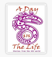 A Day in the Life Logo #2 Transparent Sticker