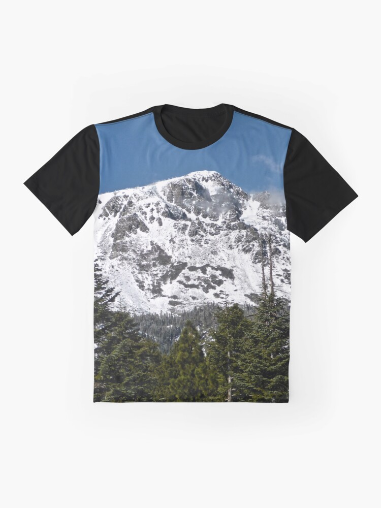 Alternate view of Snow Covered Mount Tallac Graphic T-Shirt