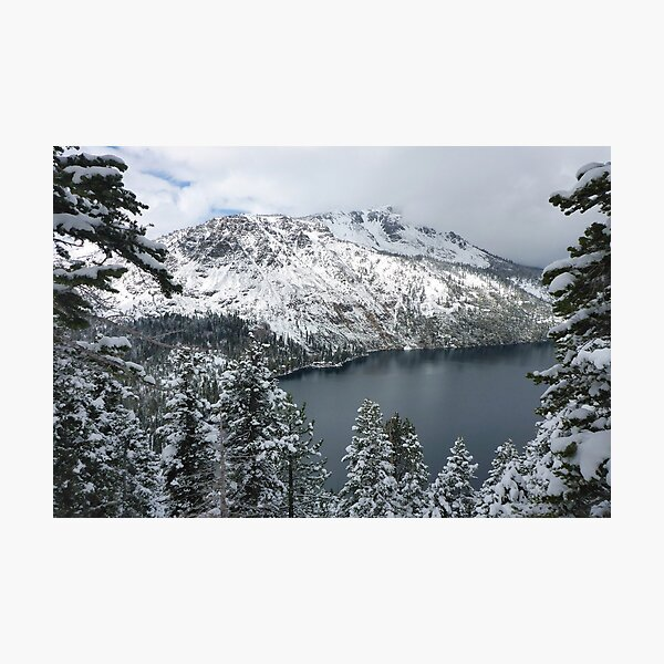 Fallen Leaf Lake and Mount Tallac Photographic Print