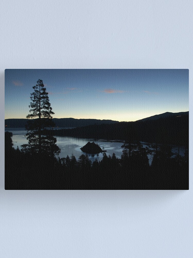 Alternate view of Emerald Bay in the Early Morning Canvas Print