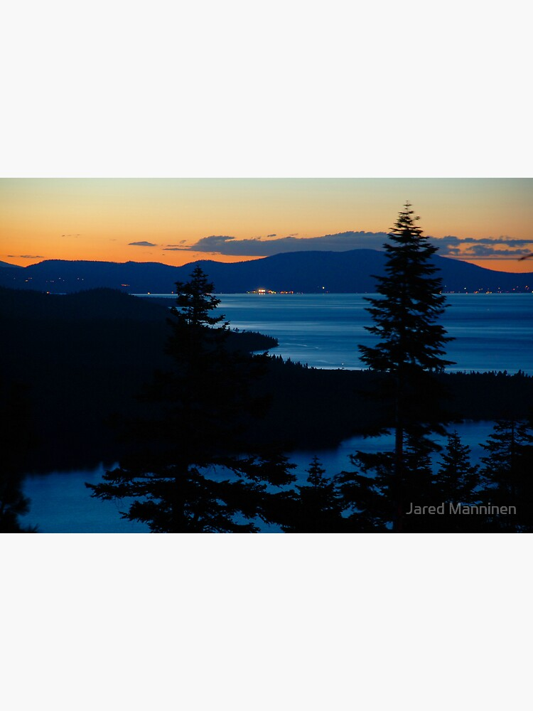 Lake Tahoe Sunset and View of North Shore by JaredManninen