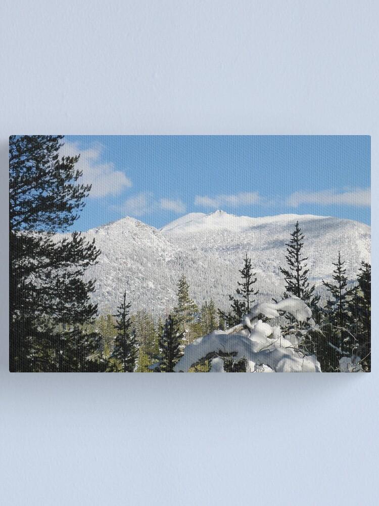Alternate view of Snowy Freel Peak Canvas Print