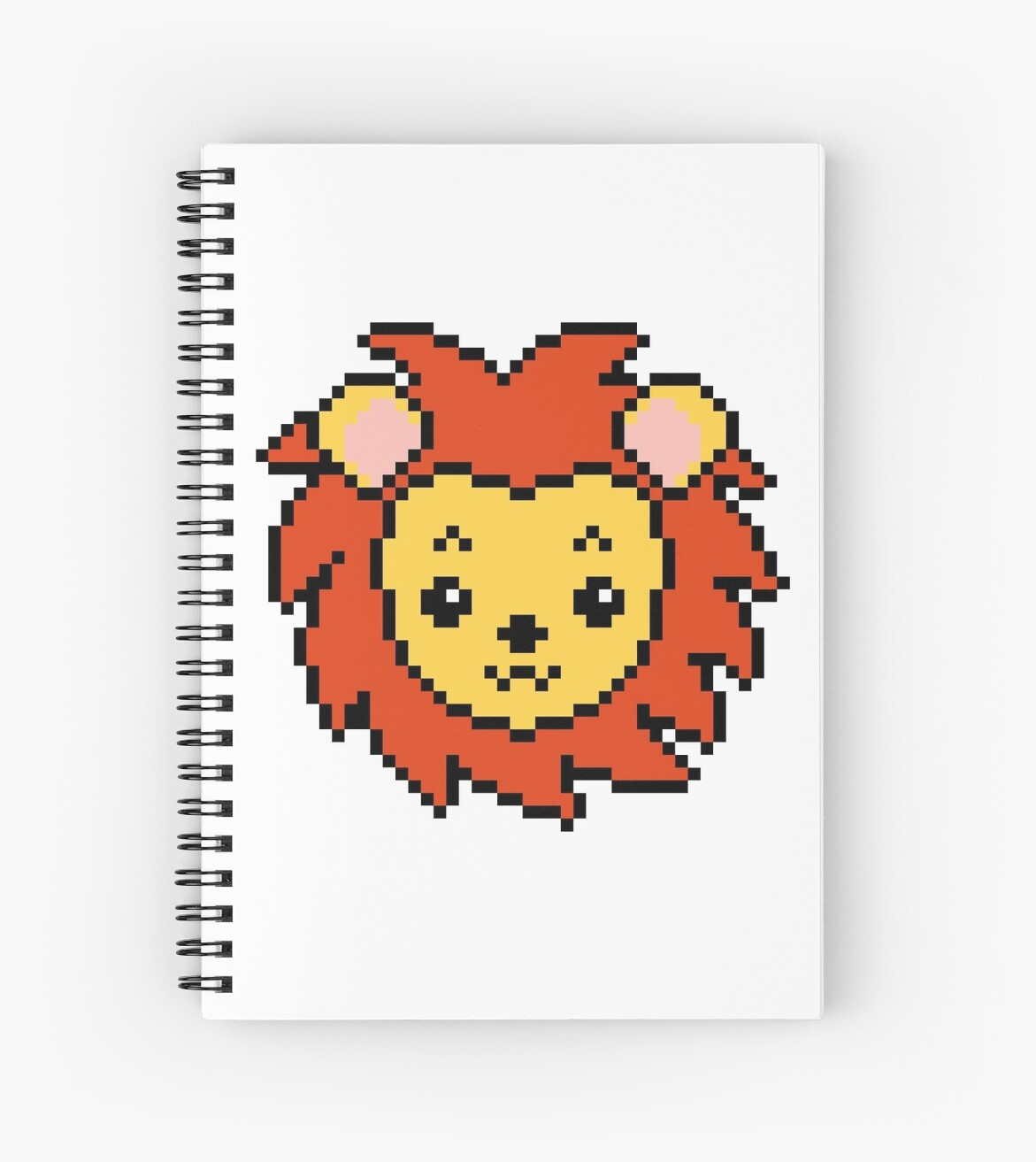 Case Ih Home Decor Quot Lion Head Pixel Art Quot Spiral Notebooks By Thegayou