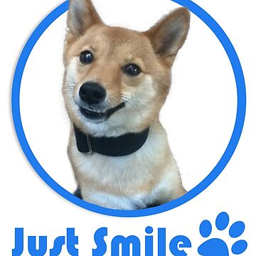 Just Smile dog shirt by robinart