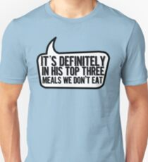 Top Three Meals Unisex T-Shirt