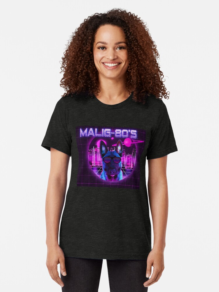 Alternate view of MALIG-80's Tri-blend T-Shirt