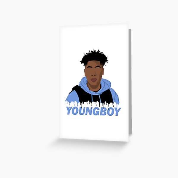 Nba Youngboy Never Broke Again Simplified 3 Greeting Card By Johncarpenter2 Redbubble