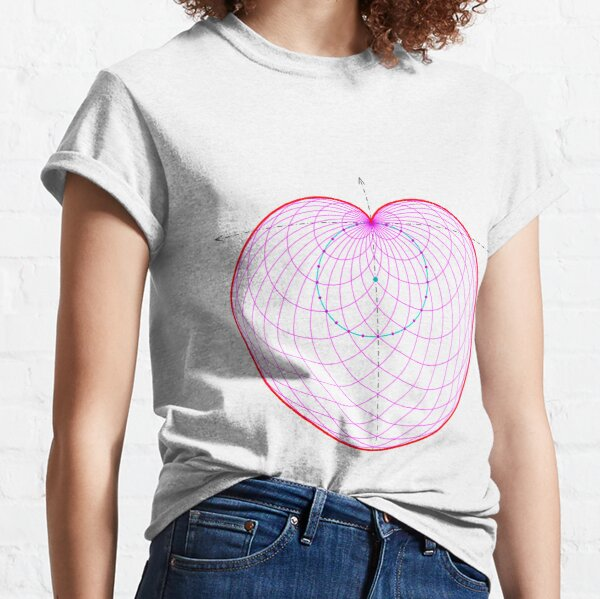Sphere, circle, symmetry, diagram, parallel, design, shape, abstract Classic T-Shirt