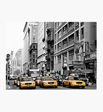 NY Taxis Photographic Print