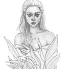 Girl And Plants by MadliArt