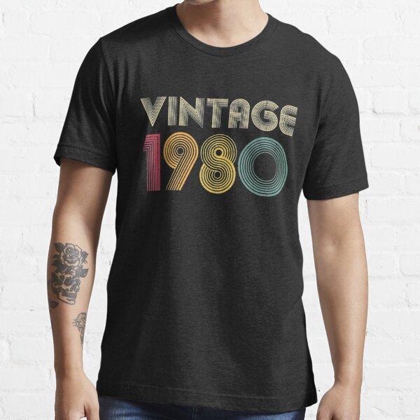 1980 40th Birthday Gift Vintage Retro Men Women 40 Years Old Essential T-Shirt