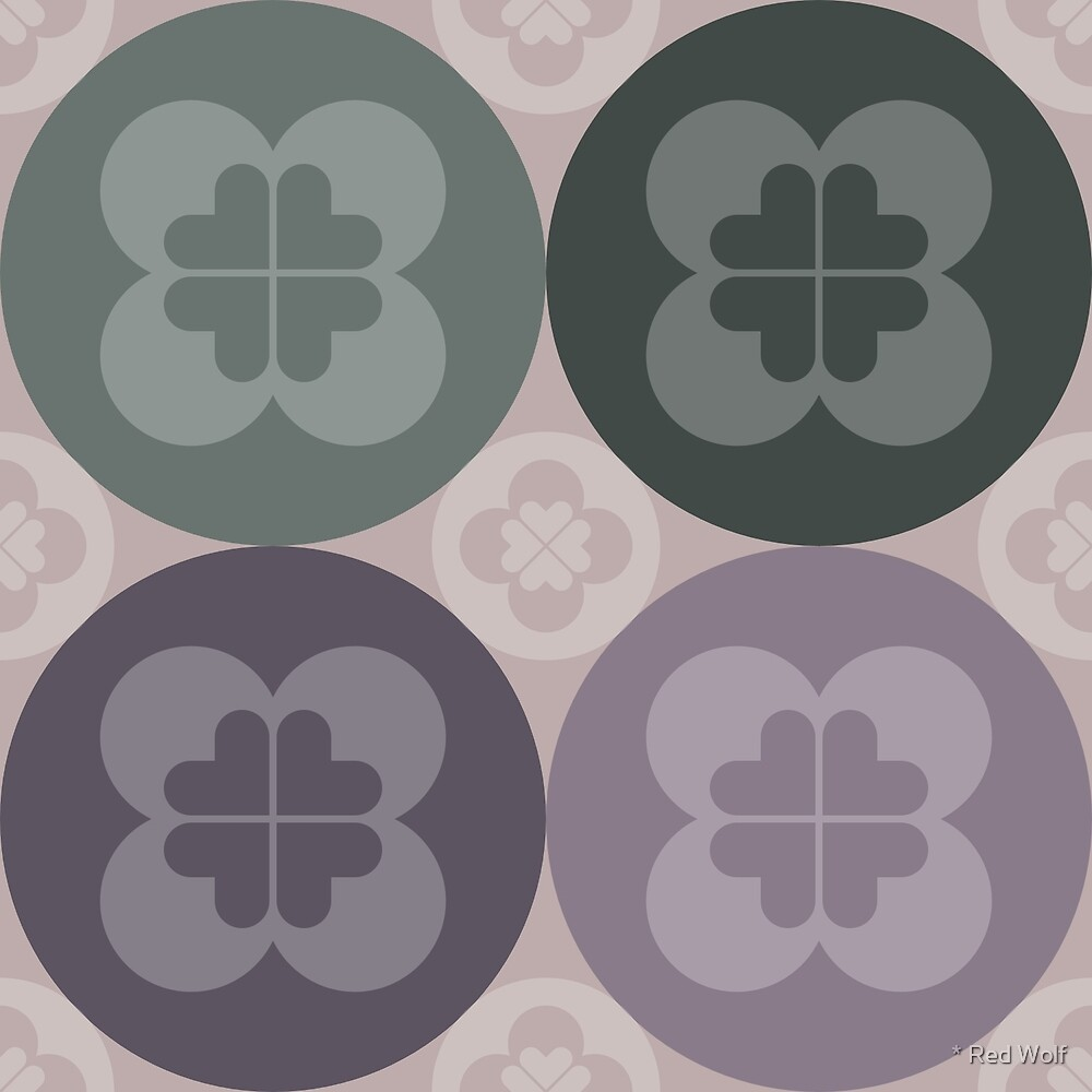 Geometric Pattern: Flower Circle: Field by * Red Wolf