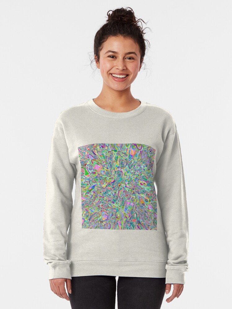 Alternate view of Abstract random colors #6 | stream of vigorously space Pullover Sweatshirt