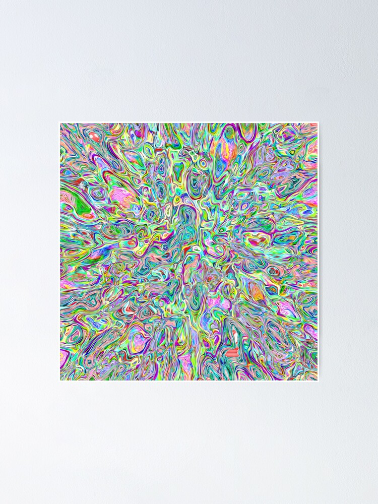 Alternate view of Abstract random colors #6 | stream of vigorously space Poster