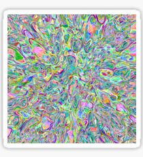 Abstract random colors #6 | stream of vigorously space Sticker